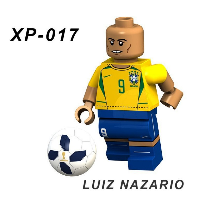 Singles Sale Luiz Nazario Football Team Player Figures Messi Beckham Building Blocks Figure Bricks Toy Kids Compatible Legoed