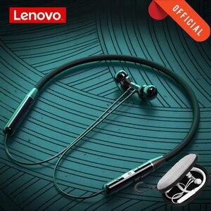 Image 1 - Auriculares inalámbricos Bluetooth Lenovo HE05 BT5.0 auriculares deportivos para correr IPX5 auriculares deportivos impermeables auriculares magnéticos con micrófono