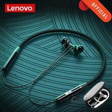 Lenovo HE05 אלחוטי Bluetooth אוזניות BT5.0 ספורט ריצת אוזניות IPX5 עמיד למים ספורט אוזניות מגנטי אוזניות עם מיקרופון