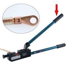 Кабельный обжимной инструмент, 10-120 мм, без диодов, Электрический аккумулятор, клеммный кабель, обжимные клещи для проволоки