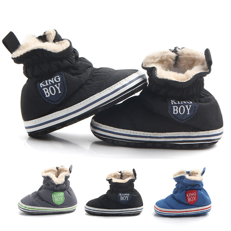 Baby Winter Boots Infant Toddler Newborn First Walkers Booties Cotton Comfort Soft Anti-slip Warm Snowfield Booties Crib Shoes