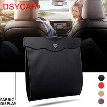 DSYCAR 1 pz LED sacchetto di immondizia per auto impermeabile adsorbimento magnetico cestino sedile posteriore appeso tasca di immagazzinaggio in pelle a prova di perdite nuovo
