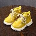 Ботинки для девочек до 3 лет; водонепроницаемые кожаные ботинки martin; коллекция 2019 года; сезон весна-осень; детские ботинки; тонкие ботинки дл...