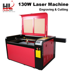 US Ship RECI 130W CO2 Laser Cutter Machine 1000*600MM CO2 Laser Engraving Machine for Acrylic Leather CW5200 80F Rotation Axis