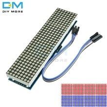 MAX7219 LEDไมโครคอนโทรลเลอร์ 4 ใน 1 จอแสดงผล 5P Dot MatrixโมดูลควบคุมสำหรับArduino 8X8 dot 5Vทั่วไปแคโทด