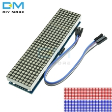MAX7219 LED Microcontroller 4 In 1 Display With 5P Line Dot Matrix Control Module for Arduino 8 x 8 Dot 5V Common Cathode