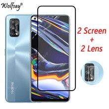 Capa completa de vidro temperado para oppo realme 7 pro protetor de tela para oppo realme 7 pro câmera vidro para oppo realme 7 pro vidro