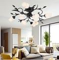Европейский Американский Сад кованого железа потолочный светильник для гостиной спальни столовой кабинет цветок потолочные светильники