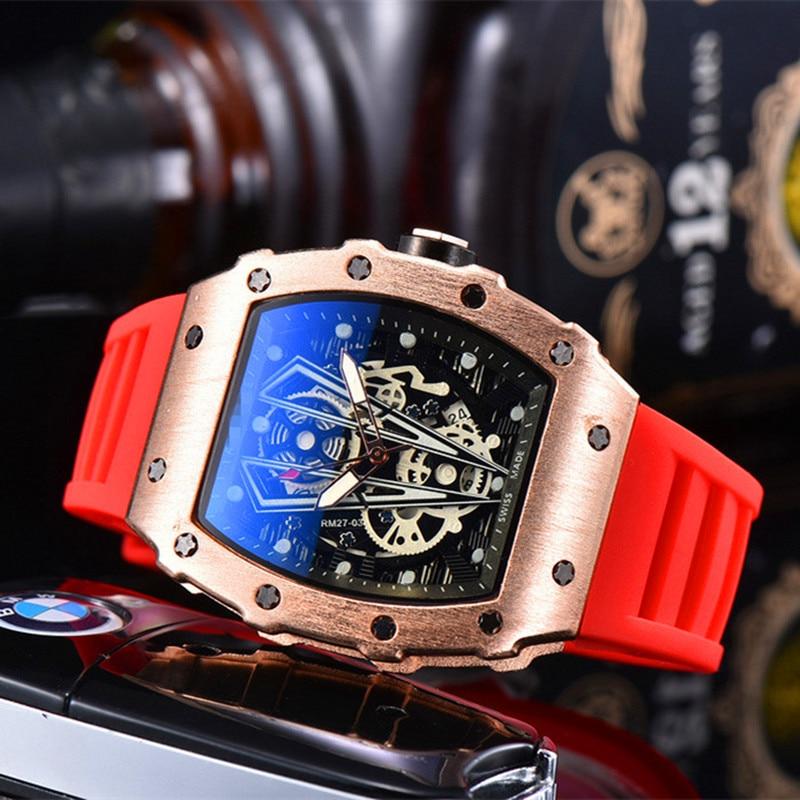 18colors Choose 2020 Richard Mens Watches Top Brand Luxury RM 1: 1 Watch Men's Mille Quartz Automatic Wristwatches DZ Male Clock