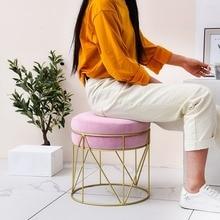Маленький табурет, модный креативный табурет для сменной обуви, домашний табурет, низкий табурет для макияжа, табурет для дивана, художественный круглый табурет, современный табурет