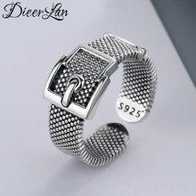 Bagues de ceinture en argent Sterling 925 véritable pour femmes, anneau Simple en argent massif, bijoux de fête Vintage 2021