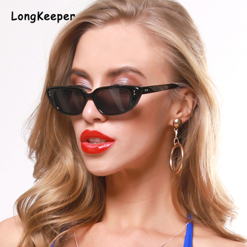 Vintage Orange Cat Eye Sunglasses Women 2020 Fashion Brand Designer Small Cateye Sun Glasses Ladies Black Eyewear Shades UV400