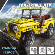 Baru Xingbao 07006 Technic Seri Mobil Convertible Jeep Set Blok Bangunan Mobil Off-Road Batu Bata Kompatibel Legoings Juguetes(China)