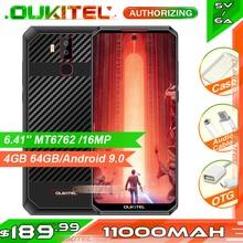 هاتف ذكي OUKITEL K13 Pro 6.41 بوصة 11000mAh 4GB 64GB MT6762 ثماني النواة أندرويد 9.0 NFC هاتف محمول معرف الوجه 5 فولت/6A شحن سريع