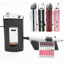 18W 30000RPM Rechargeable Portable Electric Nail Drill Manicure Machine Drill Accessory Pedicure Kit Suitable for Nail drill bit ophir 30000rpm white electric nail drill machine handle handpiece for nail manicure pedicure nail drill accessory kd125w