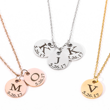 Necklaces Custom Stainless-Steel Personalized Engraving Nameplate Letter Gifts Women