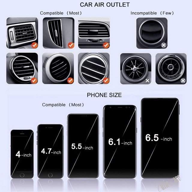 Gravity Invisible Telescopic Car Holder For Phone in Car Air Vent Clip Mount No Magnetic Mobile Phone Holder GPS Stand in Car 5