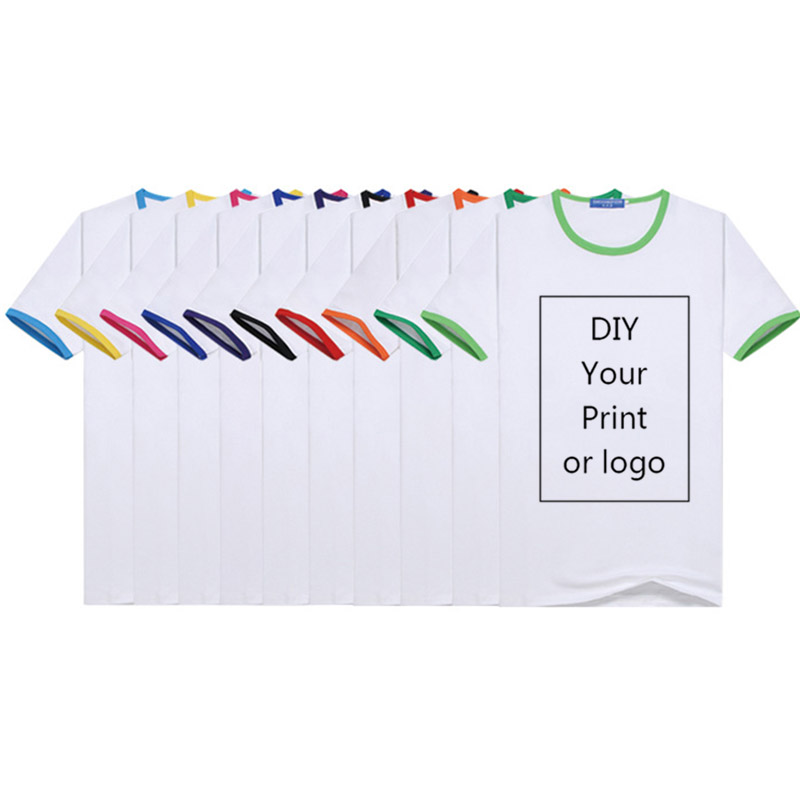 Customized Print T Shirt Men's DIY Your Like Photo Or Logo White Top Tees Women's And Kid's Clothes Modal T Shirt Size S-4XL
