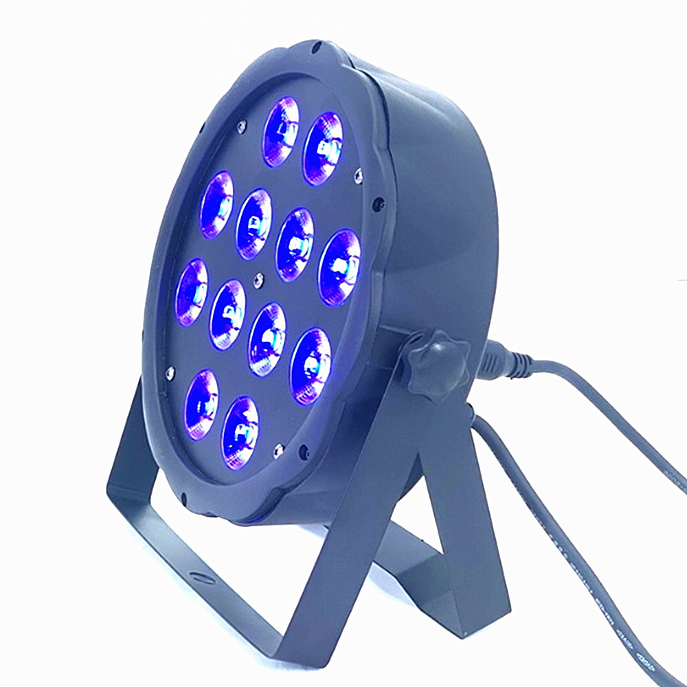 LED Flat SlimPar RGBWA UV  Light 6in1 LED DJ Wash Light Stage Dmx Light   Led Par Light 7x12W 12x18W