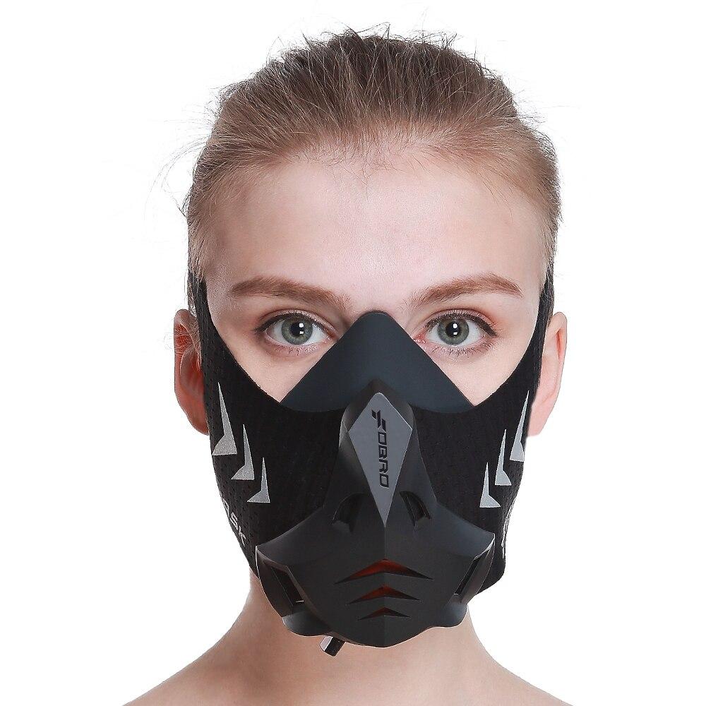 FDBRO masque de sport Pro entraînement course à pied cyclisme canette anti-poussière Air Filtration masque Cardio haute Altitude respirant formateur masques