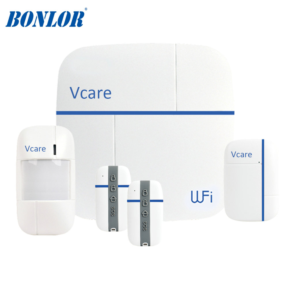 Vcare4 LoRa Automation System 3G/ WiFi Digital Wireless Alarm With HD IP Camera