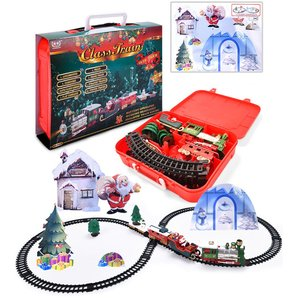 2020novo natal trem de trem elétrico do carro brinquedo das crianças trem elétrico conjunto corrida estrada transporte brinquedos construção