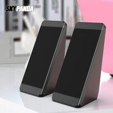 Haut parleurs dordinateur filaire USB 2 pièces cornes dangle délévation PC pour ordinateur portable téléphone de bureau haut parleur haut parleur multimédia