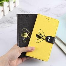 Flip Leather Phone Case For Redmi Note7 Note6 6 Pro 6A Xiaomi A2 Lite Bee Silk Pattern Back Cover Coque Capa