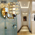 Современный светодиодный настенные бра  роскошные серебристые  золотые  хрустальные настенные светильники  прикроватные  для гостиной  све...