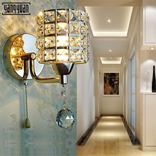 Modern LED Wall Lights Sconce Lamp Luxury silvery Golden Crystal Wall Light Fixtures Bedside Living Room LED Wall Lamp Bedroom modern simple gold metal 2 lights led wall lights lustre glass ball bedroom led wall light led wall lamp led luminaria fixtures