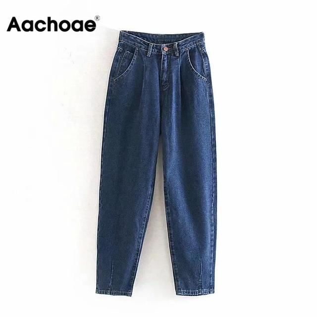New Loose Casual Mom Streetwear Denim Trousers Slouchy Jeans