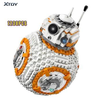 цена на New Star Wars Bb8 Robot Starfighter Star Wars Technic with Figures Model Starwars Building Block Bricks Toys 75187 Gift Kid Boys