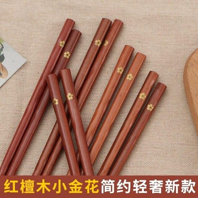 Фото 20 пар палочек для еды многоразовые деревянные бамбуковые китайские
