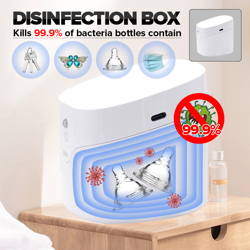 2020 Portable UV Sterilizer 59s Fast Ultraviolet Light Disinfection Cabinet For Mini Nail Tools Toothbrush Nipple Earring Watch