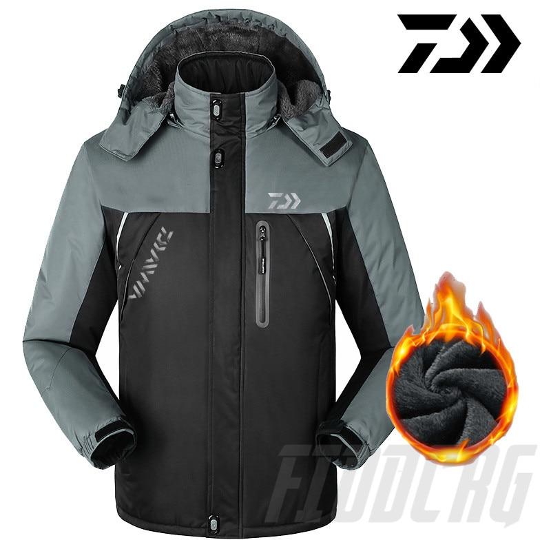 Reflective 2020 Daiwa Men Outdoor Jackets Windbreaker Waterproof Windproof Camping Hiking Jacket Coat For Men Fishing Jackets
