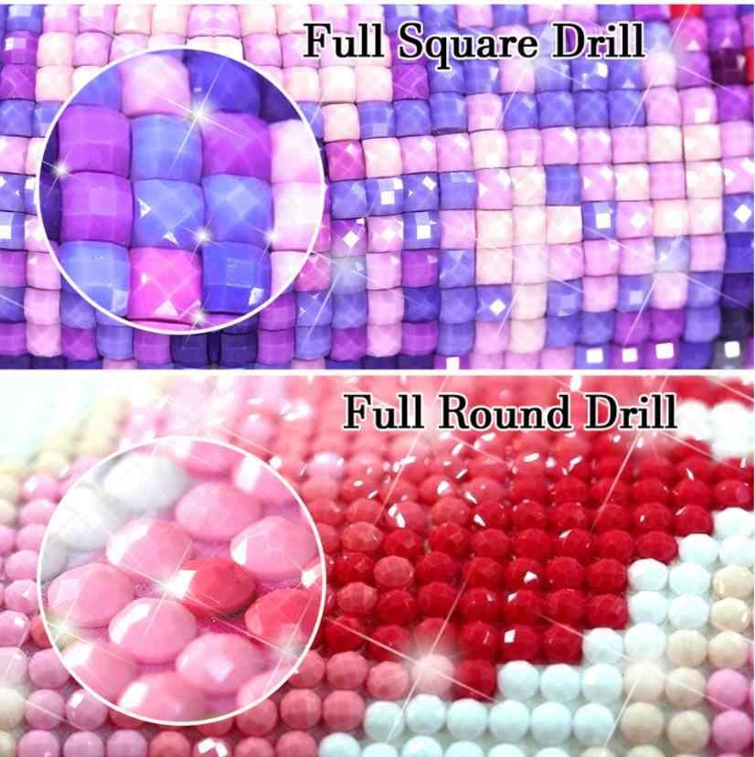 Cuadro Completo de diamantes cuadrados, pintura de pavo real, diamantes de imitación, bordado, mosaico adhesivo, decoración de animales, puntos de diamante, póster, papeles de pared diy
