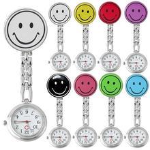 Портативные женские часы с карманом и милым лицом, кварцевые часы с клипоном, брошь для медсестры, карманные часы, подарок для медсестры, часы для женщин, брелок для медсестры