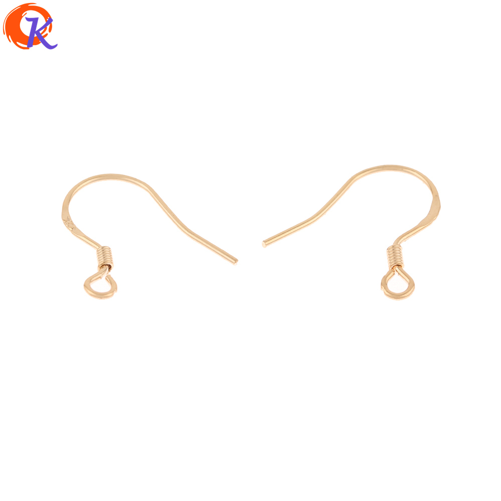 Cordial Design 200Pcs 15*16MM Jewelry Accessories/DIY/Earrings Hooks/Genuine Gold Plating/Hand Made/Jewelry Findings Component