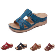 Get more info on the Summer Female Sandals Car Line Wear-resistant Anti-slip Large Size Retro Wedge With Thick Bottom Comfortable Sandals