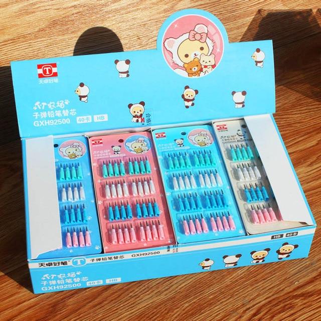32Pcs/Set Novelty 2mm Pencil Refills Cute HB Pencil Refill Kawaii Replaceable Pencil Refills School Office Supplies Stationery