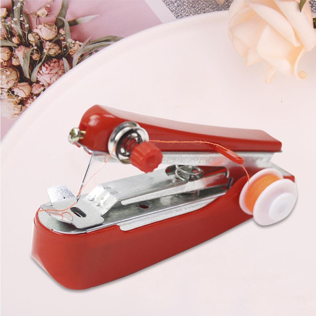 Компактная швейная машина, простой и креативный портативный инструмент для шитья дома и путешествий, с ручным управлением