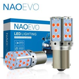 NAO P21W LED CANBUS PY21W T20 авто без гипервспышки сигнальная лампа 3030 SMD 19W BA15S 1156 BAU15S 7440 W21W T25 3156 Автомобильный свет