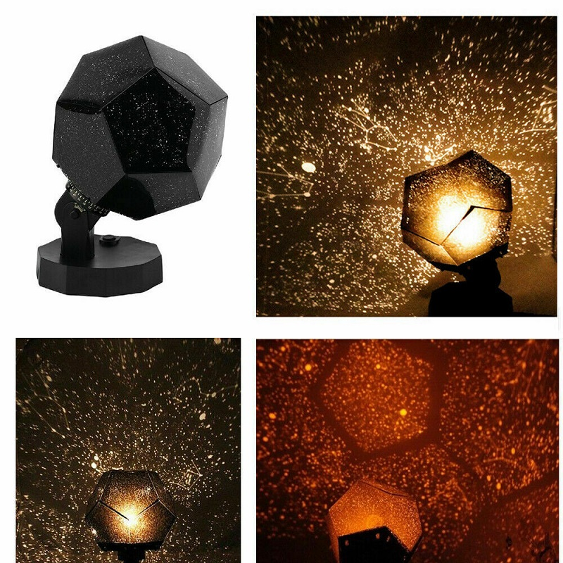 DIY 3 Color LED Star Celestial Night Light LED Star Projector Lamp Astro Sky Projection Cosmos Night Lamp Romantic Home Decor