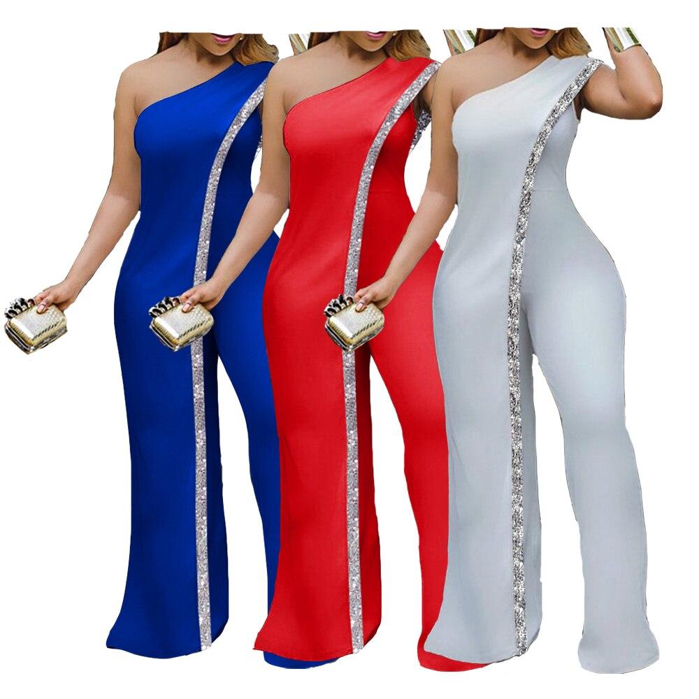Neue Helle Bar Patchwork Schulter Lose Einteilige Overall Frauen Mode Streetwear Volle Länge Overalls Damen Outfit