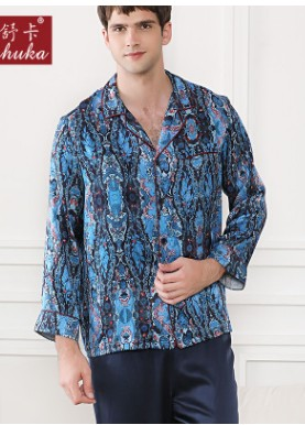 Heavy Silk Pajamas Man Sangcansichou Home Clothes Two Suits Spring And Summer