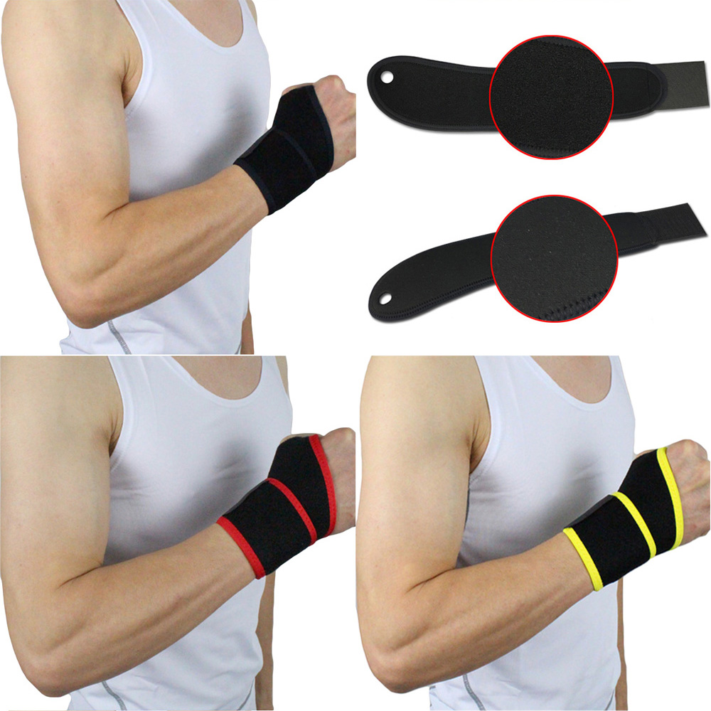Sports Wristband Brace Support Fitness Exercises Weight Lifting Wrist Band