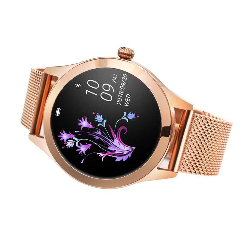 Montre intelligente de luxe femmes poignet or IP68 étanche fréquence cardiaque surveillance Bracelet Fitness pour Android IOS montre avec cadeaux S3
