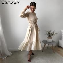 WOTWOY 2020 Spliced Polka Dot Dresses Women Summer Sweet Sashes A-Line