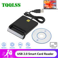 Smart ID Card Reader For Bank Card IC/ID Card readers USB SIM Card Connector for Windows 7 8 10 Linux OS