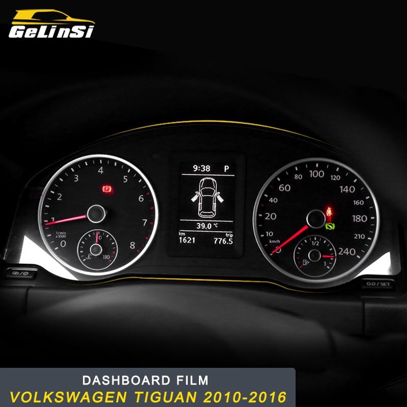 GELINSI für Volkswagen Tiguan 2010 2011 2012 2013 2014 2015 2016 Auto Dashboard-Monitor Screen Protector Film Abdeckung Trim Aufkleber